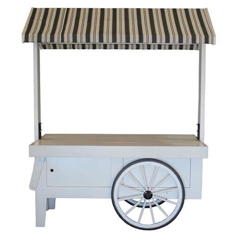 vendor cart vendor cart white with awning celebrations rentals
