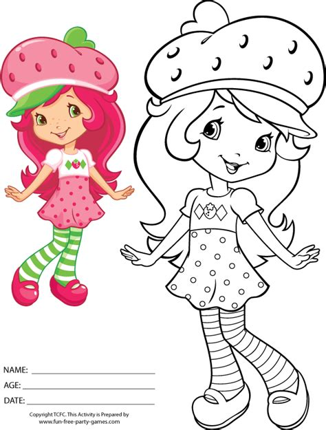 strawberry shortcake coloring pages games pin strawberry shortcake coloring pages for kids print
