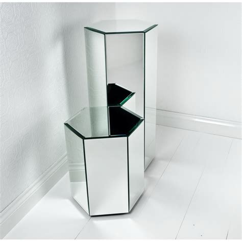 mirrored stand mirrored display stand pedestal decosee