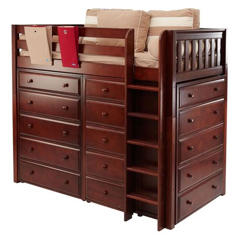 loft bed with storage storage storage loft bed