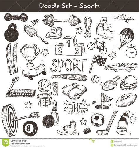 doodle football doodle sports royalty free stock image image 34429446