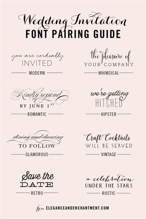 Best Fonts For Wedding Invitations