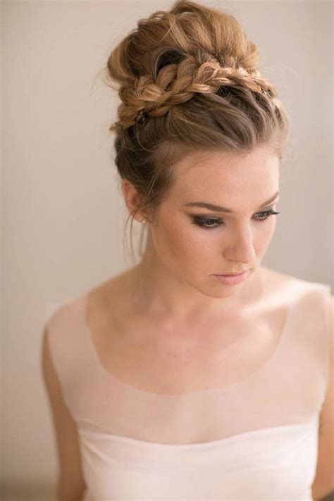 Wedding Hair Updo With Braids by 25 Glorious Wedding Hairstyles For Medium Hair 2017