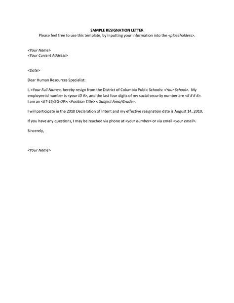 Resignation Letter Format Hd how to write resignation letter sle 2010 docoments