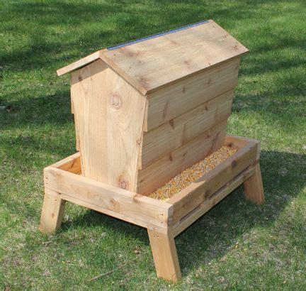 homemade wooden deer feeder plans backyard fun