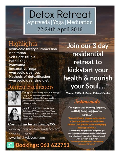 Detox Weekend Retreat Ireland by Detox Retreat Satmya Ayurveda Retreats Ireland