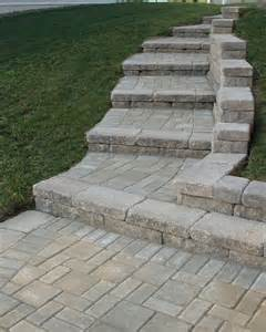 Retaining Wall Stairs Design Creative Outdoor Stairs Options Using Allan Block Retaining Walls Traditional Baltimore By
