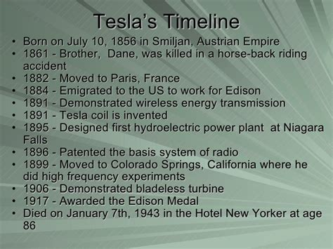 Nikola Tesla Discoveries Nikola Tesla Inventions Timeline How To Modification