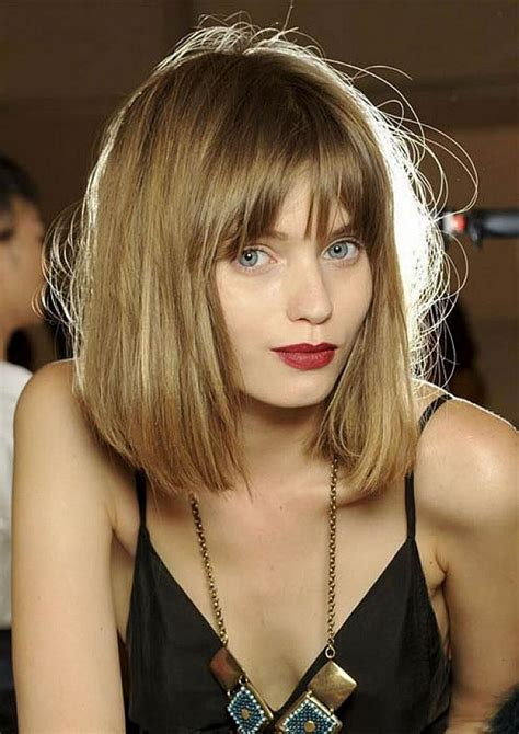 shoulder length hairstyles with bangs for fine hair magment
