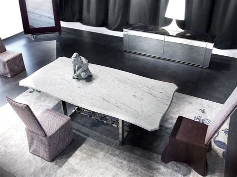 Marble Living Room Tables Rectangular Marble Living Room Table Rockcoc 210 By Erba Italia