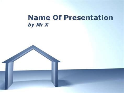 house themes for powerpoint house in architectural drafting powerpoint template