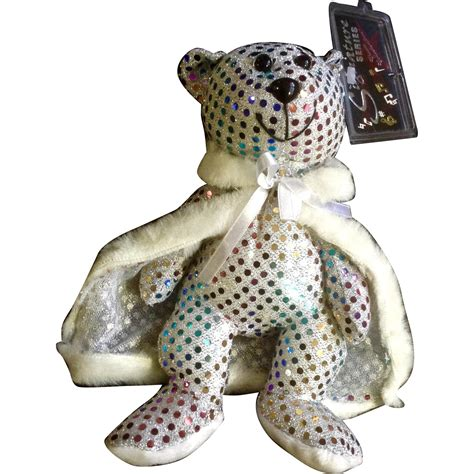 Fashion Teddy 3292 liberace signature series sequined teddy limited edition 1999 gumgumfuninthesun ruby