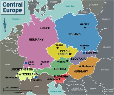 map of central europe central europe wikitravel