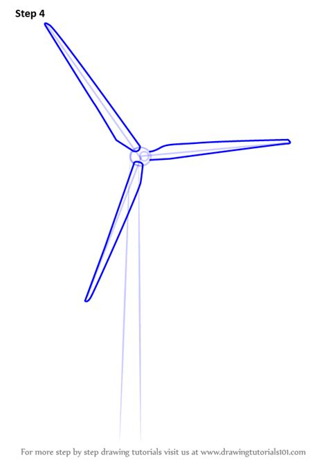 How To Draw A Windmill Step By Step For