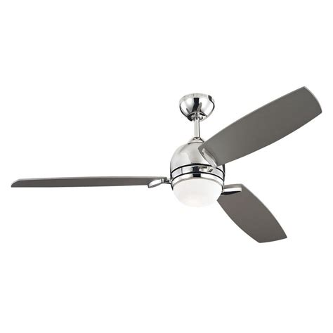 silver 3 blade ceiling fan monte carlo muirfield 52 in polished nickel ceiling fan