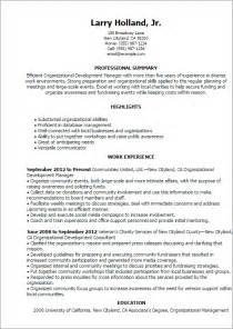 Organizational Development Officer Sle Resume by Professional Organizational Development Templates To Showcase Your Talent Myperfectresume