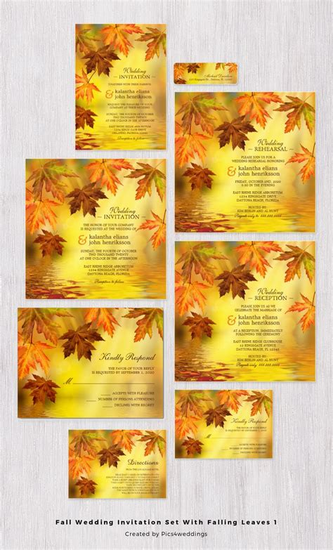 fall wedding invitation kits 17 best images about fall wedding invitations and
