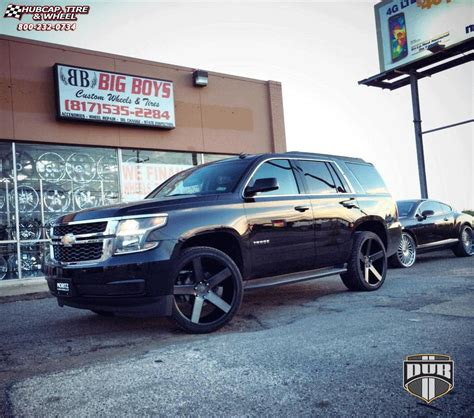 Chevrolet Tahoe Dub Baller S116 Wheels Black & Machined with Dark Tint