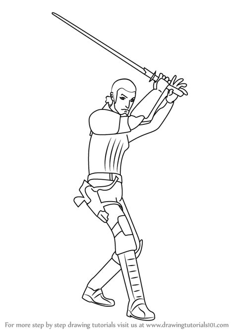 coloring pages wars rebels learn how to draw kanan jarrus from wars rebels