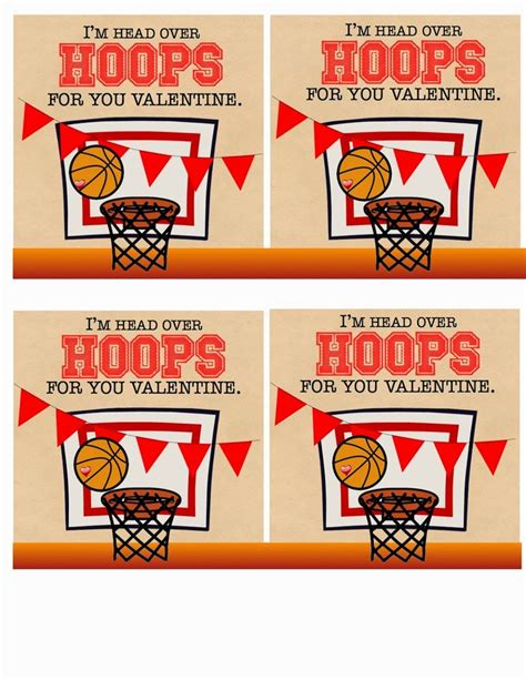 basketball valentines 17 best images about diy on free printable