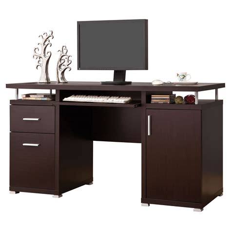 Desks For 2 Computers Brayden Studio 2 Drawer Computer Desk Reviews Wayfair
