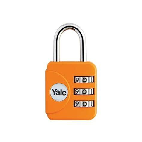 Kunci Gembok Kombinasi Kecil Padlock Coded Untuk Ta Murmer Berkualitas yale gembok travel lock yp1 28 121 1 orange dinomarket belanja bebas resiko