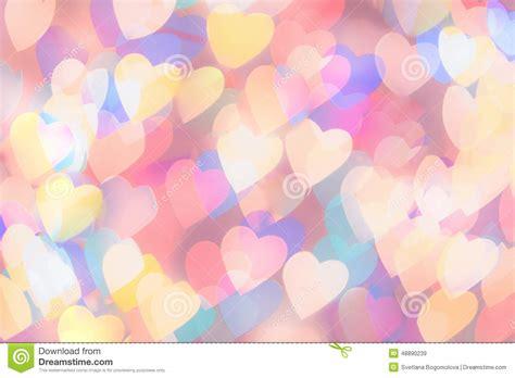 printable bokeh shapes multi coloured heart shaped bokeh background stock