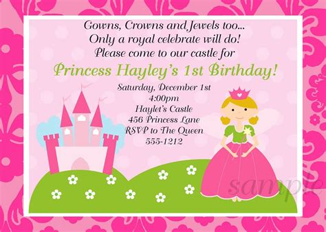 princess themed invitation template princess invitations theruntime
