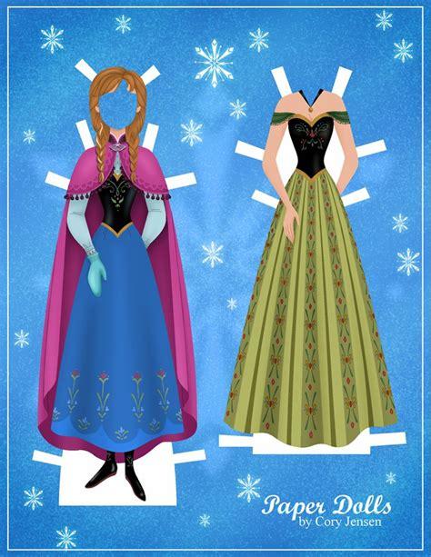 printable frozen paper dolls anna paper doll frozen fan art 34943250 fanpop