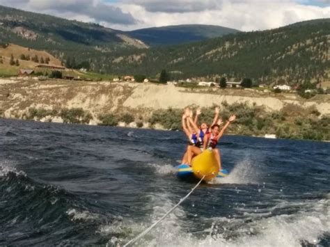banana boat ride penticton the girls on their banana boat ride 2 picture of pier