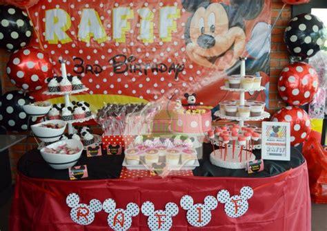 Kitchen Set Mickey Doti Merah mickey mouse dessert table for rafif
