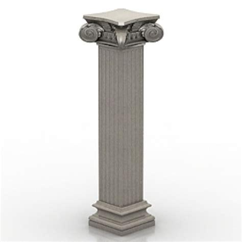 Pillar Designs For Home Interiors ionic column 3d model free 3d models