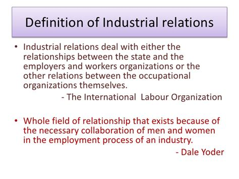 Definition Of Mba In by Industrial Relations Health Safety