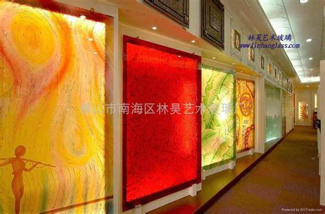 home construction and decoration engraved glass wall linhao art glass china manufacturer