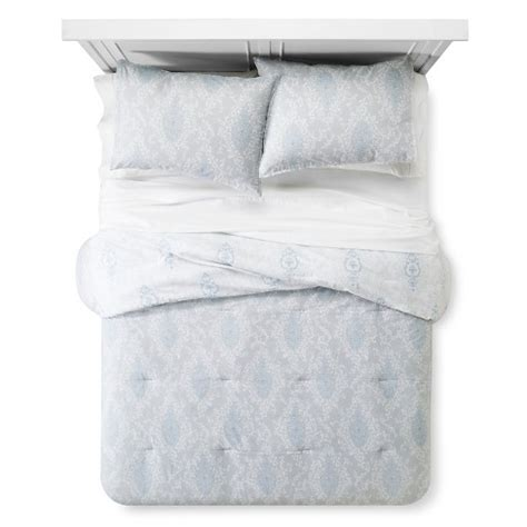 printed damask comforter and sham set simply shabby chic