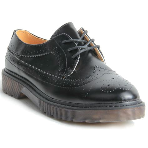 platform oxford shoes womens chunky platform sole lace up oxford brogue