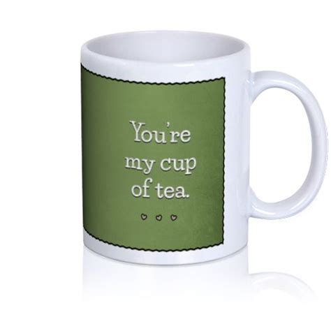 cup of tea photo mug 11 oz edit text and add your own