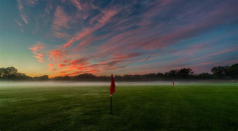 pictures fog golf nature sky fields morning clouds