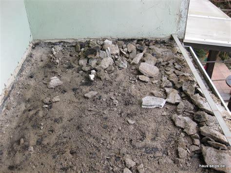 fliesen estrich entfernen balkon 171 hausbau