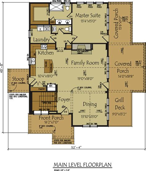 home blueprints lake wedowee creek retreat house plan