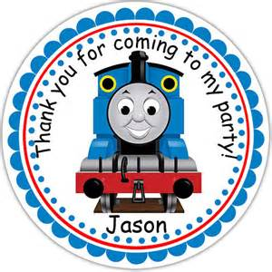 thomas the train personalized stickers party by sharenmoments