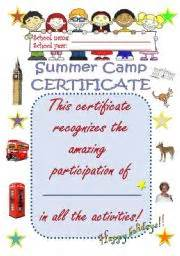 summer c certificate template teaching worksheets certificates