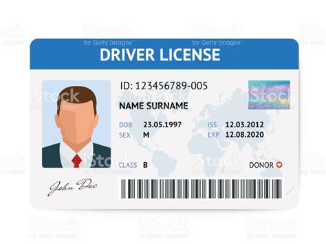 pvc id card template flat driver license plastic card template id card