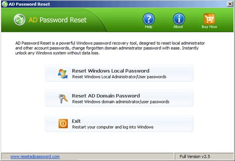 reset admin password on vista vista administrator password recovery software