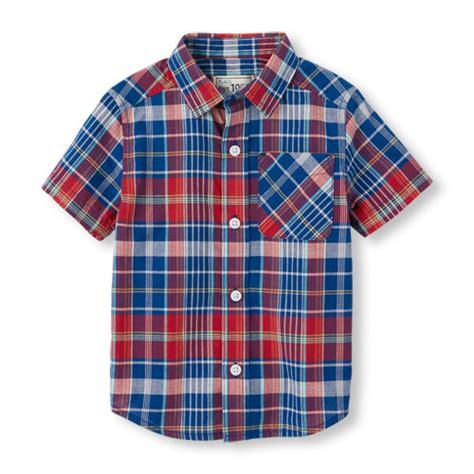 Toddler Boy Shirt - toddler boys sleeve plaid madras shirt the