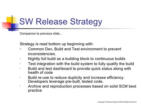 software release management template effective software release management
