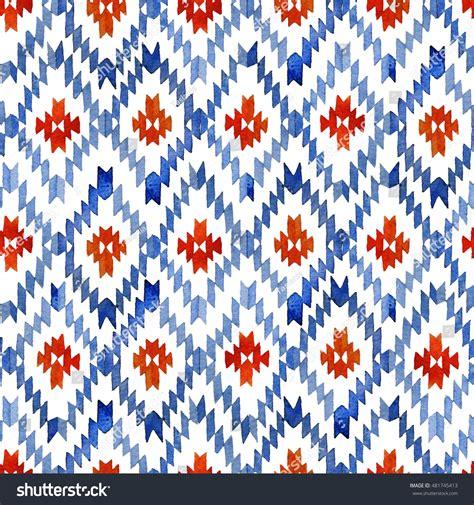 watercolor ikat pattern watercolor ikat seamless pattern vibrant ethnic stock