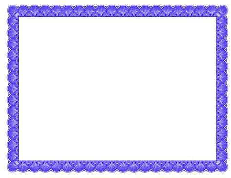 Blue Certificate Border Clipart   clipartsgram.com