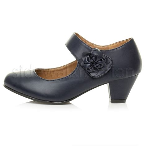 janes shoes womens mid block heel padded comfort