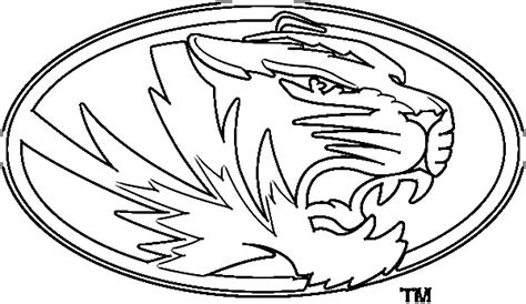 missouri tiger coloring page mizzou tigers logo coloring page coloring pages
